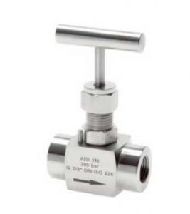 "G 3/4"" Stainless Steel Needle Valve PTFE 300 Bar – NLS"