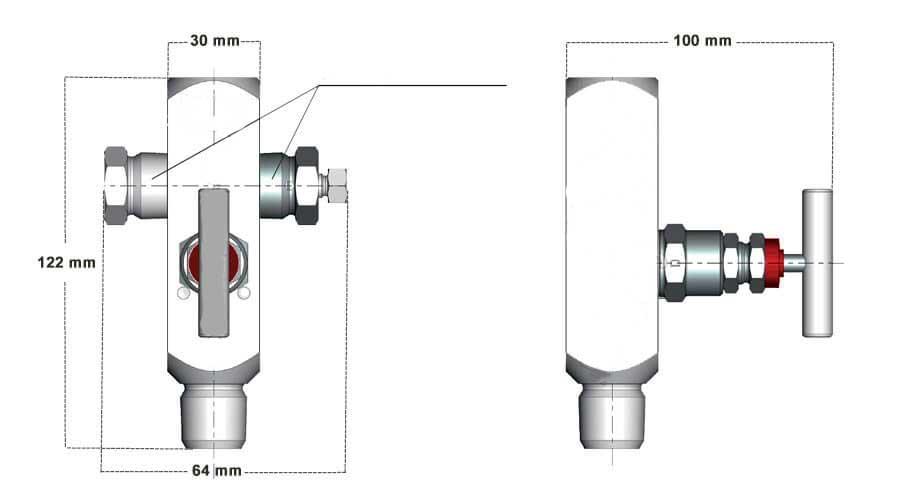 شیر سوزنی InstruMate Needle Valve مدل IV11 Multiport