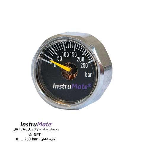 مانومتر خشک InstruMate صفحه 27 میلی متر افقی